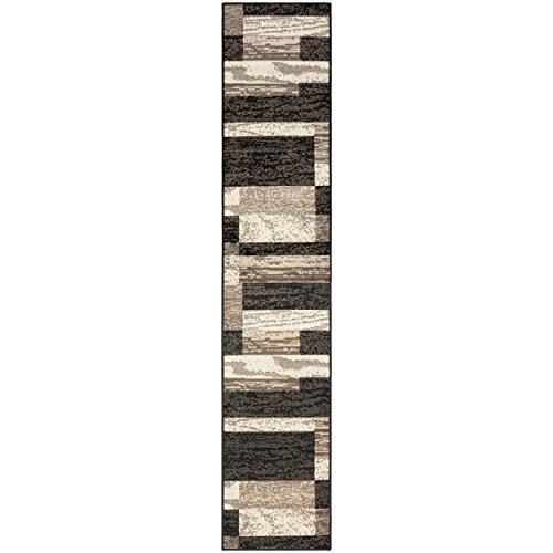 Superior Modern Rockwood Collection Teppich Casual 2' x 11' Schokoladenbraun -