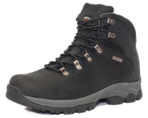 Alpinecrown EXPLORER Scarpe da escursionismo Scarpe da trekking Scarpe da montagna Mountain Shoe genere neutro uomo, Nero, EU 44