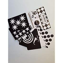 Bebedou Carte d'Arte Bambino * 7 Carte ad Alto Contrasto in Bianco e Nero per Lo Sviluppo del