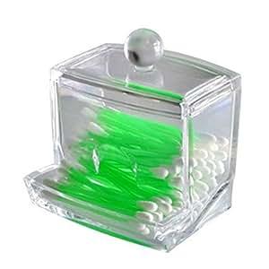 topteck aufbewahrungsbox f r wattest bchen acryl transparent k che haushalt. Black Bedroom Furniture Sets. Home Design Ideas
