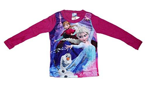 zen Mädchen Langarmshirt Anna Elsa (128 (8 Jahre, Violett) (Disney Frozen Elsa Kind Hoodie)