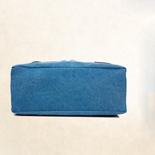 Segeltuchbeutel-Schulterbeutelkunst Beweglicher Kurierbeutel Einfacher Beiläufiger Beutel Grey