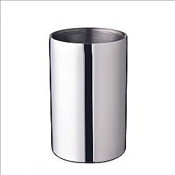 Sukhoi 1.6l Stainless Steel Straight Double Wall Ice Bucket, Hotel Bar Ktv Ice Bucket