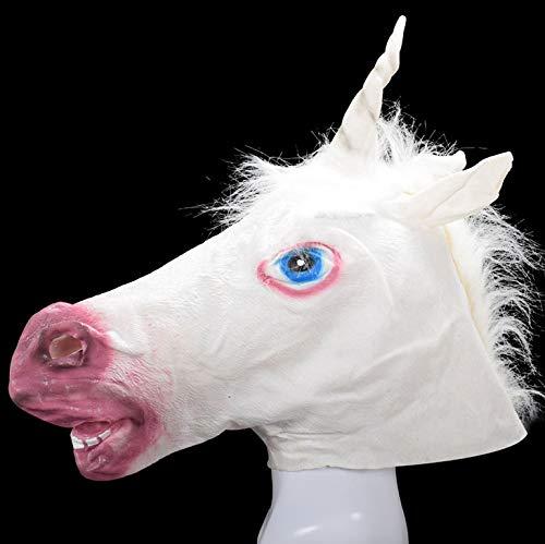 Halloween Masquerade Party Maske Deluxe Neuheit Halloween-kostüm-Party Latex Animal Head Maske Pferd ()