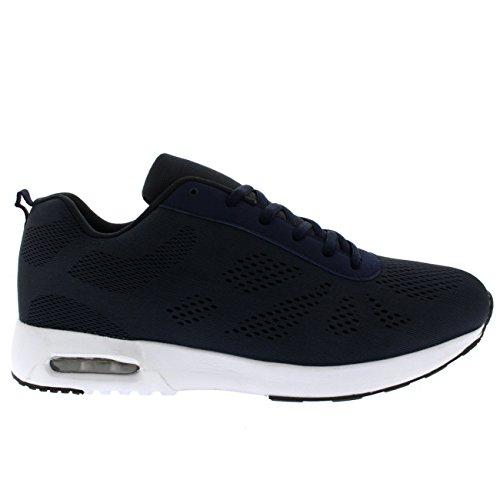 Herren Schuhe Konstrukteur Sports Gehen Laufen Beiläufig Büro Ausbilder Marine/Marine/Weiß