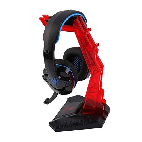 Jasnyfall Universal Gaming Gamer Headphone Headset Hanger Bracket Holder Rack Stand-Color:red Rack Headphone Hanger