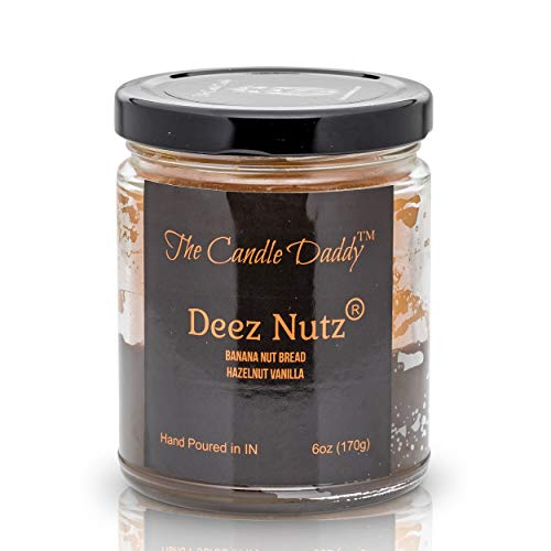 The Candle Daddy Deez Nutz- Black Label Kerze im Glas, Bananen-Nutbrot, Haselnuss-Vanille, 170 ml, handgegossen in Indiana Im Bananen