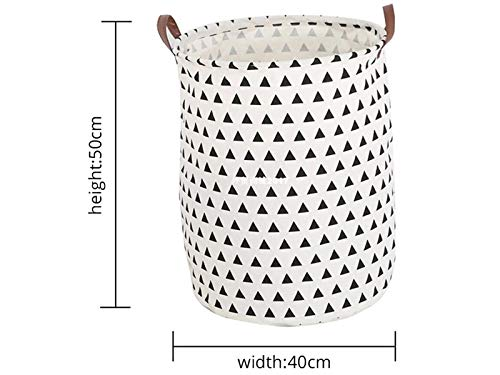 QWhing Professional Triangle Pattern Aufbewahrungstasche Leinwand Eimer Kleinteile Aufbewahrung Eimer (weiß) Küche
