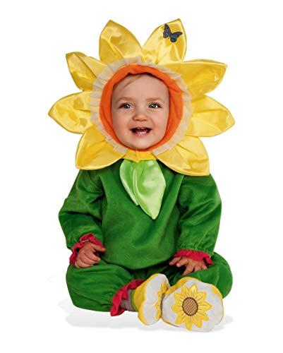 Kostüm Sonnenblume Kind - Horror-Shop Süßes Sonnenblumen Kostüm für Kinder als Halloween und Karneval Outfit Baby