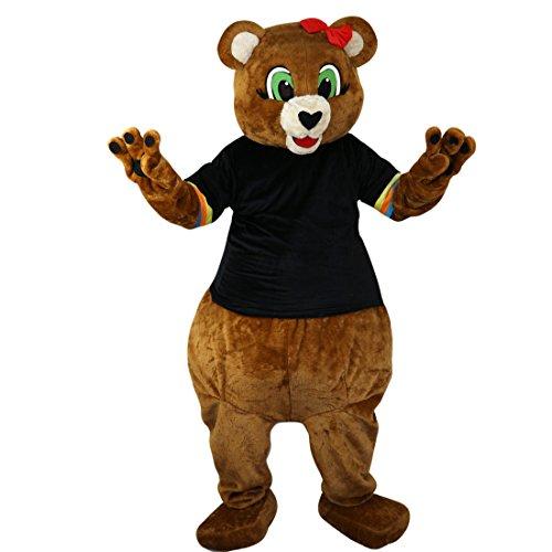 Bear Brown Kostüm - Langteng Frau Brown Bear Cartoon Maskottchen Kostüm Echt Bild 15-20Tage Marke