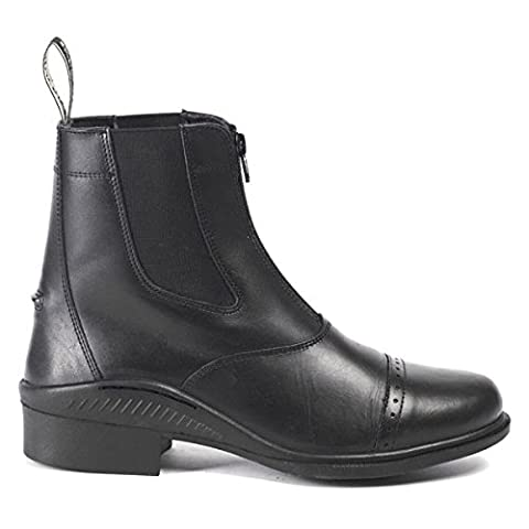 Brogini Ladies Mens Horse Riding Leather Front Zip Stable Yard Paddock Jodhpur Boots All Sizes