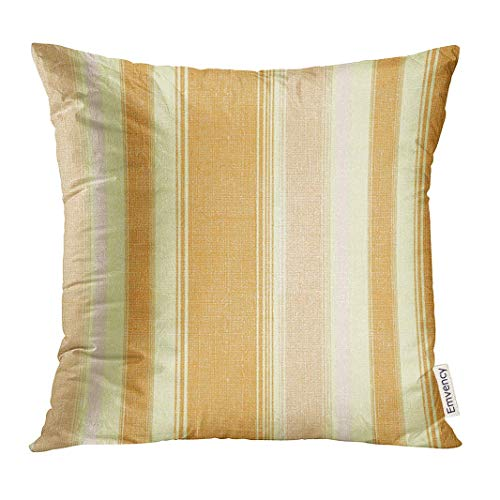 Throw Pillow Cover Orange Sail Stripe Wide Accent Bold Clean Decorative Pillow Case Home Decor Square 18x18 Inches Pillowcase
