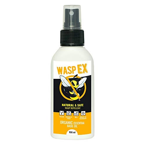 Anti Avispas Natural | WaspEx 100ml | Repelente Natural | 100% biodegradable | Con Aceite esencial de Albahaca | Para niños y adultos
