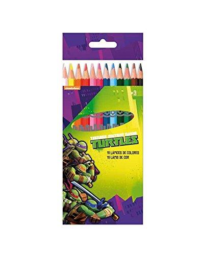 NINJA TURTLES Schachtel mit 12 Buntstiften