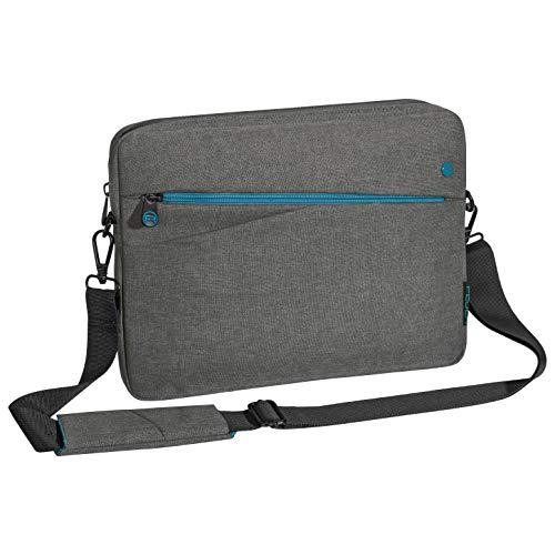 """PEDEA Tablet PC Tasche \""""Fashion\"""" für 12,9 Zoll (32,8 cm) Tablet Schutzhülle mit Zubehörfach und Schultergurt, grau"""