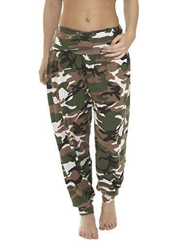 Love My Fashions Damen Hose Baggy Trousers Alibaba Harem Gedruckt Gummizug Taille In voller Länge Knöchel Manschette Übergröße S M L XL XXL XXXL (Geparden-print-leggings)