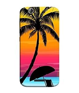 Printvisa Designer Back Cover for Acer Liquid Z630, Acer Liquid Zade Z630S (Art Artwork Beach Island Coast Coastline Beautiful Evening)