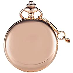 GORBEN Fullmetal Smooth Quartz Pocket FOB Watches Chain Pendent with Box