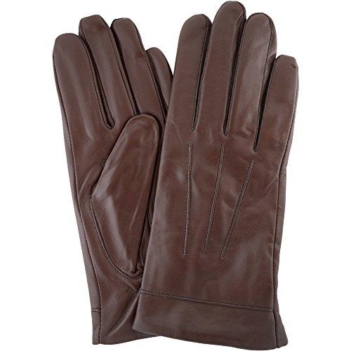 Klassische 3 Nummer Stitch Butter mit weichem, braunen Leder-Handschuh mit warmem (Braune Handschuhe)