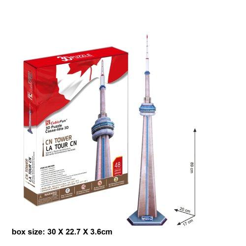 "CubicFun 3D Puzzle MC-Serie ""Canadian National Tower - Toronto"""