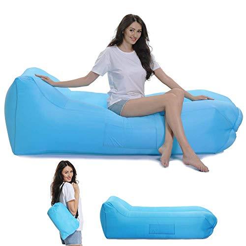 Lazy Wind Saco de Dormir Hinchable reclinable al Aire Libre, Excursión, Portátil,...