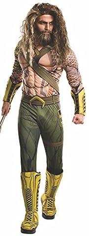 Rubie's Men's Batman v Superman Deluxe Aquaman Costume, XL, CHEST 44 - 46
