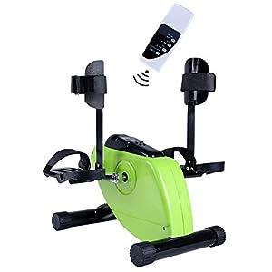 GFDDZ Pedalatore Elettrico Pedalatore Medico per Braccio di Gamba e Recupero del Ginocchio Esercizio con Monitor LCD e Telecomando, Cyclette e Pedale per disabili e Anziani