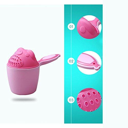 Winkey Shampoo ausspülen Cup, Baby Löffel Dusche Bad Wasser schwimmen Bailer Shampoo Cup Kinder Produkte, rosa Baby Löffel Natural