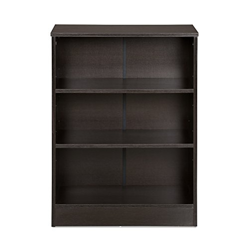 @home by Nilkamal Fame 3 Tier Bookshelf (Melamine Finish, Black)