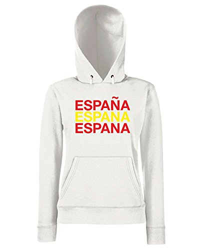 T-Shirtshock - Sweats a capuche Femme WC0567 SPAIN Blanc
