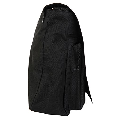 Flaming Fire, motivo: teschio, colore: nero, Borsa Messenger-Borsa a tracolla in tela, borsa per Laptop, scuola Nero (Red Flaming Fire Skulls)
