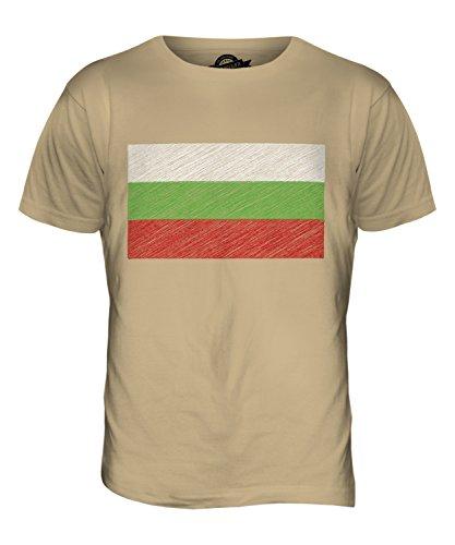 CandyMix Bulgarien Kritzelte Flagge Herren T Shirt Sand