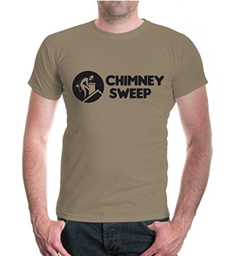 buXsbaum® T-Shirt Chimney Sweep Khaki-Black