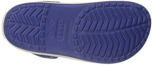 Crocs Crocband Kids, Sabot Unisex Bambini Blu (Cerulean Blue/Volt Green)