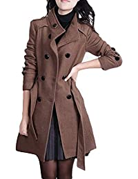 Amazon.es  botones para abrigos - Marrón   Mujer  Ropa e9745126801a