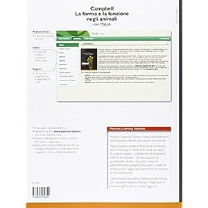 Campbell. La forma e la funzione negli animali. Ediz. mylab. Con espansione online