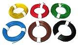 6 rollos de hilos de conexión de cobre, de 0,5 mm de diámetro y 10 metros