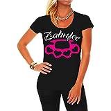 Frauen und Damen T-Shirt Zahnfee PINK Schlagring Größe XS - 3XL