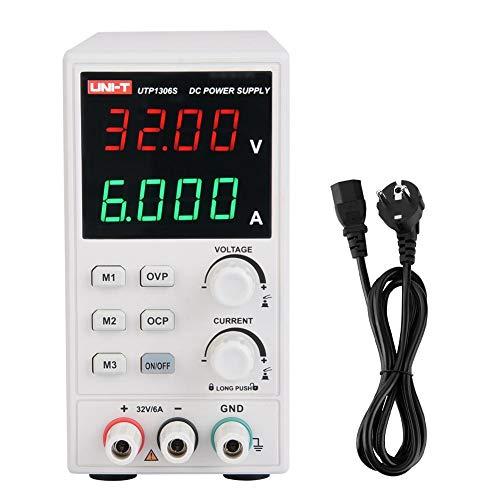 Gleichstromversorgung, UNI-T UTP1306S Variable Lab-Stromversorgung 32V 6A DC Einzelausgang Schaltungsart Einstellbare Stromversorgung AC110V / AC220V(EU-Stecker)