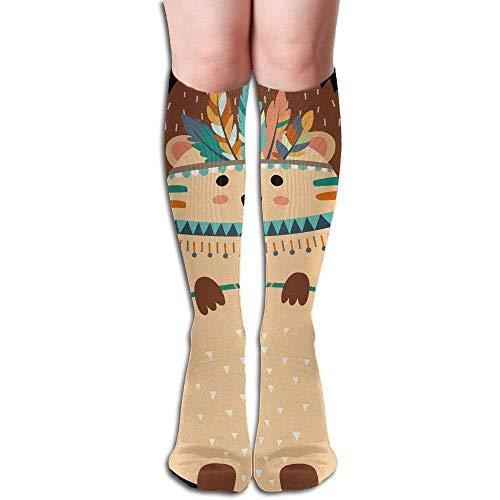 CVDFVFGB Tribal Hedgehog Women's Fashion Knee High Socks Casual Socks Womens Hedgehog