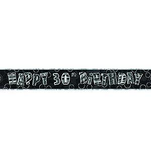 Gifts 4 All Occasions Limited SHATCHI-115 - Pancarta decorativa para fiesta de cumpleaños, 3,65 m, color negro