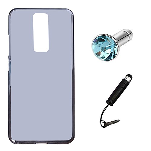 Lusee Silikon TPU Hülle für Leagoo S8 5.72 Zoll Schutzhülle Case Protektiv Silicone Grau
