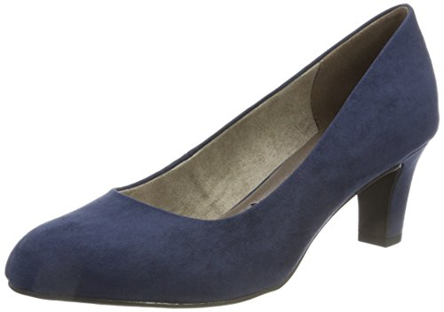 Tamaris Damen 22418 Pumps, Blau, 38 EU