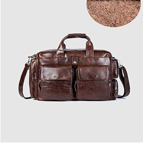 DJHAJDFH Herren Aktentaschen Taschen Vintage Leder Laptop Computer Taschen Business Document Totes Flap Pocket Messenger Bags - Flap-tasche Aktentasche