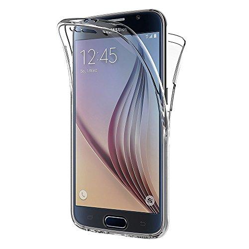 AICEK Funda Samsung Galaxy S6, Transparente Silicona 360°Full Body Fundas para...