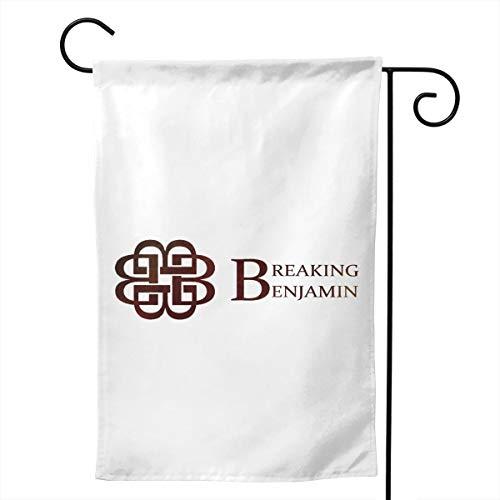 YYTEBBBX Gartenflagge Breaking Benjamin, weiß, 28