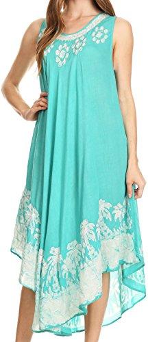 Sakkas 40SE Sundari Kaftan-Behälter-Kleid / Cover Up - Mint - OS
