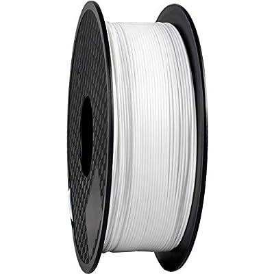 TEQStone PLA Filament 1,75 mm 1 kgfür 3D Drucker und 3D-Stiftein Vakuumverpackung Sauber Gewickeltes(White/Weiß)