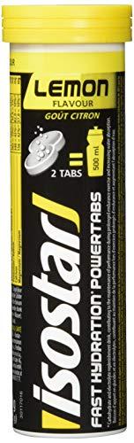 Isostar Powertabs Sportgetränk (6 Tuben mit je 10 Tabs) - Iso Drink für intensives Training - kalorienreduziertes Elektrolyte Getränk - Zitrone -