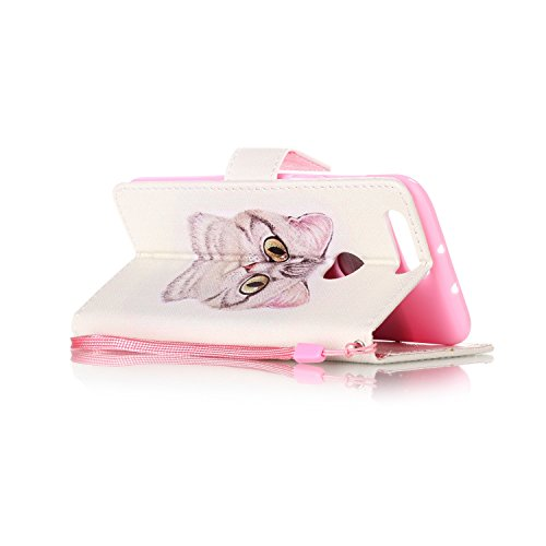für Honor 8 Hülle,Hochwertige Kunst-Leder-Hülle mit Magnetverschluss Flip Cover Tasche Leder [Kartenfächer] Schutzhülle Lederbrieftasche Executive Design (+Staubstecker) (10OO) 4